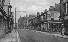 Another view of Northgate in old Hartlepool taken from an old picture postcard. The public house on the left was the Middlesbrough and the street opposite was Coverdale Street.