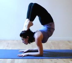 the scorpion yoga pose