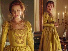 Reign 3x01, Elizabeth wears this Reign costumes custom dress