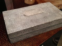 Python decorative box with quartz crystal handle. Interior Design Trends #python #quartz #nature #organic by Regina Andrew https://www.reginaandrew.com #HPmkt #StyleSpotters