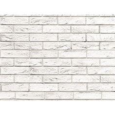 VOX Bathroom Wall Cladding PVC Panels MotivoMattone Bianco Brick Effect 250mm x 2.7m (Pack of Four)