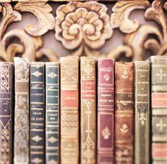 Paris livre photographie Vintage cuir Français par GeorgiannaLane