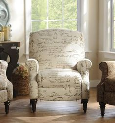 French Country Literary Script Linen Club Chair | Humble La Bode |  Pinterest | Linens, Country Furniture And Country Style Furniture