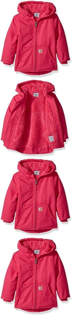 864507b3666a Outerwear 147202: Carhartt Baby Toddler Girls Winter Jacket Sherpa Lined  Pink Peacock 12 Months -> BUY IT NOW ONLY: $34.7 on eBay!