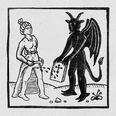 Renunciation Medieval Drawings, Medieval Art, Medieval Manuscript, Project Alpha, Witch Pictures, Maleficarum, Myths & Monsters, Danse Macabre, Top Memes