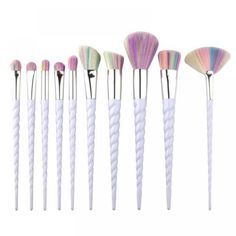 Makeup Brushes Colorful New Spiral Thread Eyebrow Eyeliner Lip Brushes Professional Nose Base Fan Make Up Brushes - Eyebr - EyeBrowStencils United States - Shop Online World's Largest Best and Top Collection of EyeBrow Stencil 2020 Make Makeup, Makeup Tools, Cheap Makeup, Elf Makeup, Fairy Makeup, Crazy Makeup, Eyebrow Makeup, Pretty Makeup, Halloween Makeup
