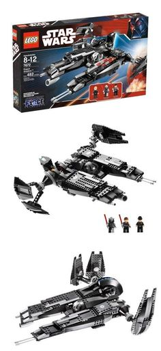 LEGO Star Wars Rogue Shadow, The sinister Rogue Shadow flies out of the Star Wars: The Force Unleashed video game! Star Wars Set, Lego Star Wars, Lego Christmas Gifts, Lego Kits, Lego Videos, Lego Design, The Force Is Strong, Star Wars Minifigures, Custom Lego