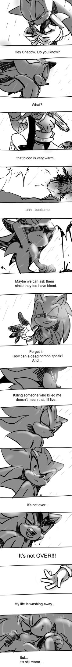 My Feel was not good, whan I draw that cartoon~X( That is not Sonic~. Sonic is coooooool~~ Just think 'If Sonic was tired', what happen? sonic is always. Shadow The Hedgehog, Sonic The Hedgehog, Silver The Hedgehog, Hedgehog Art, Shadow And Amy, Sonic And Shadow, Sonic Funny, Villainous Cartoon, Comics