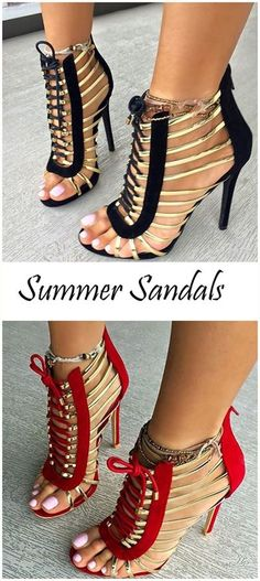 139f4ea3fb55 Shoespie Golden Strappy Lace Up Sandals Más