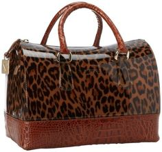 Furla Candy Bauletto Zipper Satchel by Top Brand Name Handbags
