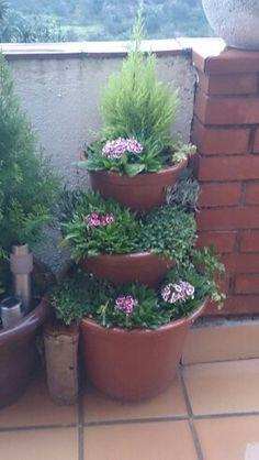Jardín macetas