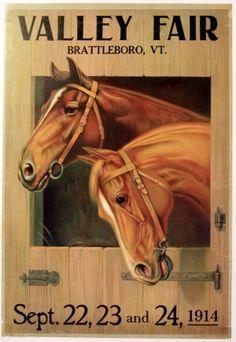 Valley Fair (Horses), 1914 - original vintage poster listed on AntikBar.co.uk