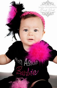 Girls Clothing :: months :: Step Aside Barbie Rhinestone Bling Top - Little girls boutique, baby girl clothes, toddler clothing, kids accessories. Little Girl Outfits, Toddler Outfits, Cute Outfits, London Grace, Toddler Swag, Barbie Party, Girls Rules, Girls Boutique, My Baby Girl