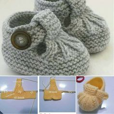 Baby Knitting Patterns Hand Knitted Baby Shoes-Booties Baby Knitting Patterns Source : Hand Knitted Baby Shoes-Booties by Baby Knitting Patterns, Baby Booties Knitting Pattern, Crochet Baby Shoes, Crochet Baby Booties, Knitting For Kids, Baby Patterns, Hand Knitting, Knit Crochet, Crochet Cardigan