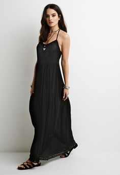 Embroidered Gauze Maxi Dress | Forever 21 #summer #bohemian #breezy