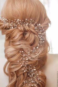 Свадебные украшения ручной работы. Заказать Свадебное украшение для волос. Елена…