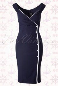 Steady Clothing Lilly Dress in Navy 100 31 15088 20150630 0014WB