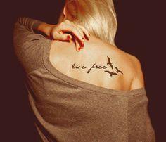 Live Free Divorce Tattoo