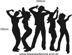 Adesivo Silhueta Sombra Dançando 2,40 x 1,80m Disco Theme Parties, Music Themed Parties, 70s Party, Disco Party, Party Themes, Talent Show, Rock And Rool, Rockstar Party, People Dancing