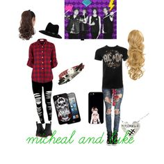 micheal and luke by muraeflores on Polyvore featuring polyvore fashion style Almost Famous Dr. Martens rag & bone Samsung