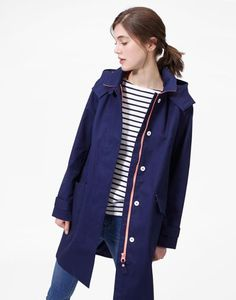 4a5d1f1b9017 COAST Womens Waterproof Hooded Jacket. See more. Seaford French Navy Mac |  Joules US Rain Collection, Joules Uk, Nantucket, Raincoat