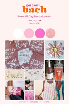 Rosé All Day Themed Bachelorette Cocktail Gifts, Day And Mood, Bachelorette Party Themes, Little Rose, Party Bus, Winter Springs, Your Girl, Vows, You Got This