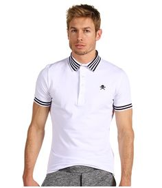 Vivienne Westwood MAN Classic Pique Polo with Skull White - 6pm.com
