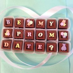 Prom Date Proposal-Be My Prom Date by DiamondChocolates on Etsy
