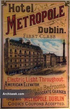 , Dublin - Architecture of Dublin City, Lost Buildings of Ireland - Archiseek - Irish Architecture Castles In Ireland, Ireland Homes, Vintage Advertising Posters, Vintage Travel Posters, Old Pictures, Old Photos, Irish Restaurants, Vintage Hotels, Dublin City