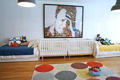 A cool shared space/nursery/kids room by Robert and Cortney Novogratz