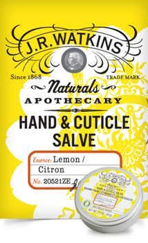 Hand & Cuticle Salve - Lemon - When hardworking hands and cuticles get dry, these salves moisturizes, nourishes and revitalizes with 98-100% natural ingredients. By combining a premium beeswax base with natural oils your hands get a protective barrier from harsh elements. (2.1 oz/59 g) - $8.99 US