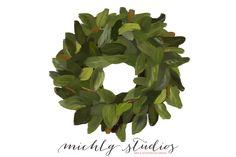 1 Magnolia PNG clipart wreath - Illustrations - 1