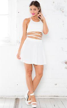 Newport two piece set in white print   SHOWPO Fashion Online Shopping