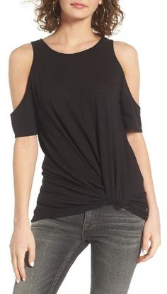 Women's Bp. Twist Front Cold Shoulder Tee #affiliatelink