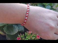 Πώς φτιάχνω Μαρτη ? ( Μαρτακια βραχιολια ) - YouTube Jewellery Diy, Jewelry, Macrame, Knots, Tassels, Projects To Try, Delicate, Crochet, Bracelets