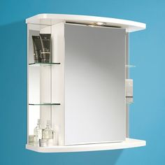 ultra niche triple mirror cabinet with light, shaving socket and