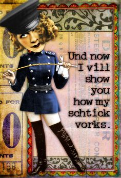 OMG I LOVE this!! My Schtick by Tumble Fish Studio, via Flickr