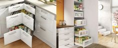 European style range of kitchen with corner and pantry solutions for your new kitchen.
