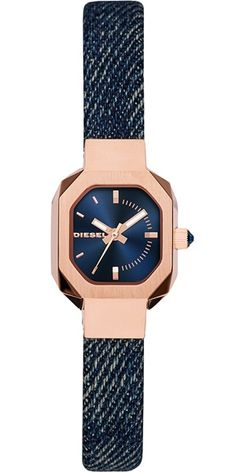 614a573d5ba Diesel Bad B DZ5569 Women s Stainless Steel and Denim Strap Watch Diesel  Uhr