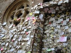 wall of love~ verona, Italy. You write a Love letter to Juliet and her helpers will ansewer them!