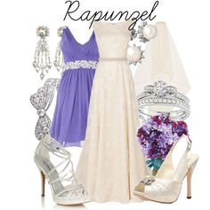 """Tangled - """"Rapunzel Wedding"""" by niennamarie on Polyvore"""
