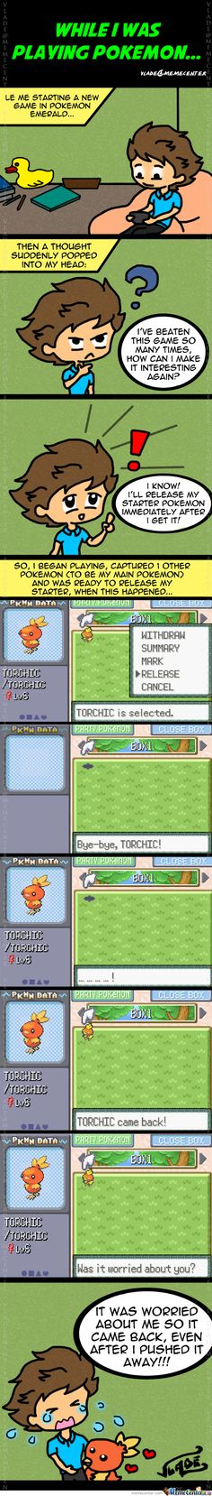 Pokémon - Torchic cares! Is it not possible to release your starter, then?