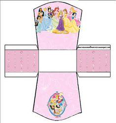 Cajitas imprimibles de Princesas Disney .