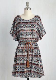 Altogether Entrancing Striped Dress in Botanical. Youre a vision from head to toe as you glide through your day in this printed dress! Casual Frocks, Casual Dress Outfits, Stylish Outfits, Stylish Dresses For Girls, Stylish Dress Designs, Cute Dresses, Summer Dresses, Party Dresses, Indian Fashion Dresses