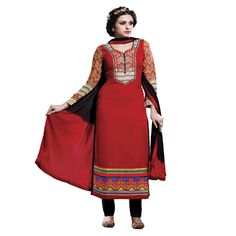 Buy Lilots Red Cotton Dress Material by Lilots, on Paytm, Price: Rs.2335?utm_medium=pintrest