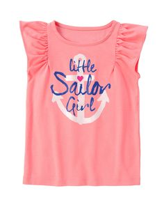 Sailor Girl Flutter Tee at Gymboree