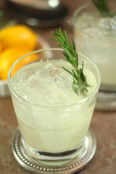 The Ophelia from Olivea's in Denver. Gin, rosemary simple syrup and lemon finished with club soda. Fabulous!