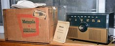 *American*Radio*Design* - Greg Mercurio - Deco-Mid Century, Retro Styled Vintage Tube Radios   : MOTOROLA 52H New Old Stock (NOS)