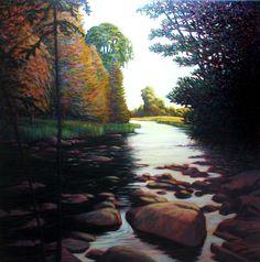 #8, Indian River Silence, 30 x 30, $2000 - bid starts at $1000.