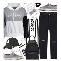 A fashion look from April 2017 featuring Hollister Co. sneakers, Givenchy backpacks and Forever 21 hair accessories. Browse and shop related looks.